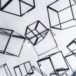 gray metal cubes decorative
